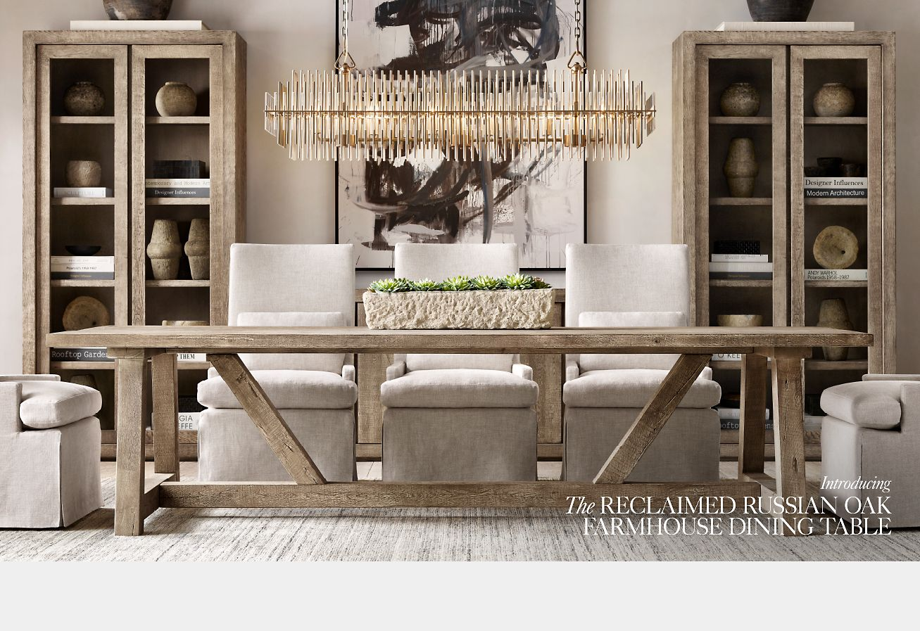 Restoration Hardware The Reclaimed Russian Oak Collection Save 25 As An Rh Member Milled