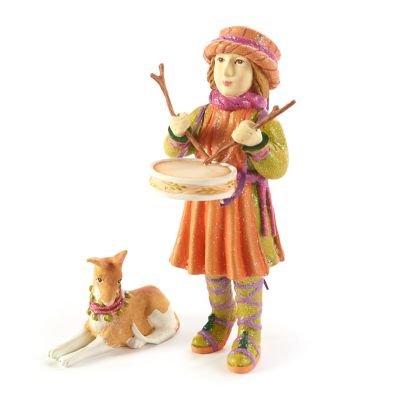 Patience Brewster Little Drummer Boy & Dog Figures
