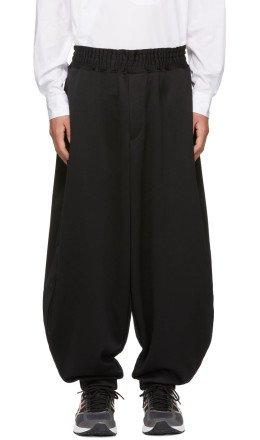 Comme des Garons Homme Plus - Black Smooth Balloon Lounge Pants