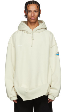 Vetements - Off-White Inside-Out Shark Hoodie