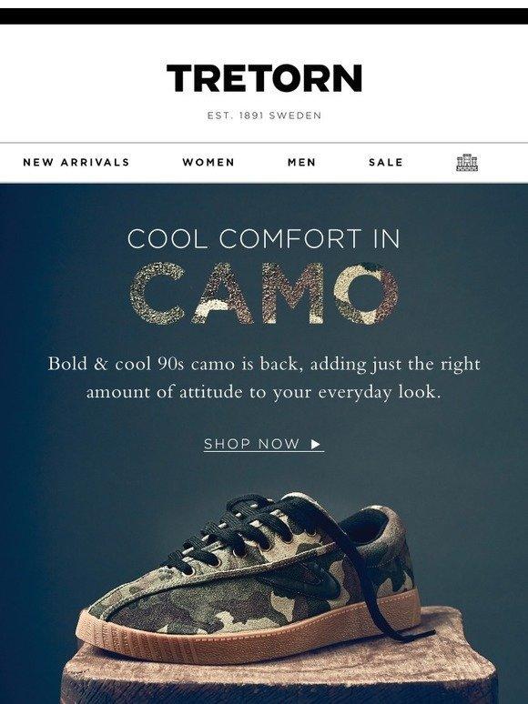 Tretorn: Now Trending: Camo | Milled