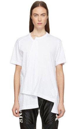 Comme des Garons Homme Plus - White Asymmetrical T-Shirt