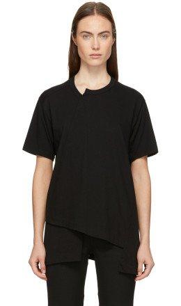 Comme des Garons Homme Plus - Black Asymmetrical T-Shirt