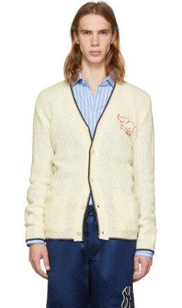 Gucci - White Wool Elephant Cardigan