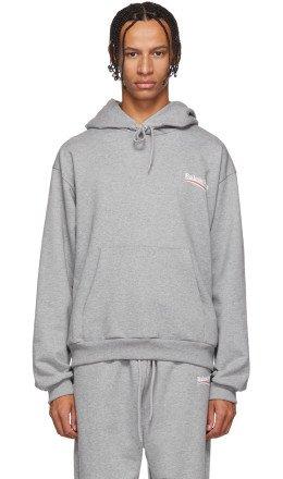 Balenciaga - Grey Campaign Logo Hoodie