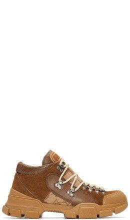Gucci - Brown Flashtrek GG Sneakers