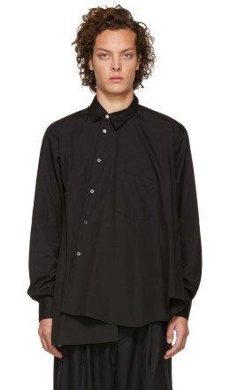 Comme des Garons Homme Plus - Black Asymmetrical Shirt
