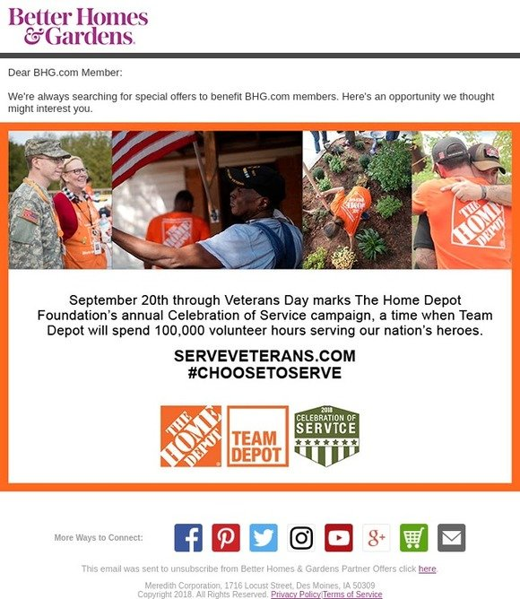 Better Homes and Gardens: Celebration of Service with The