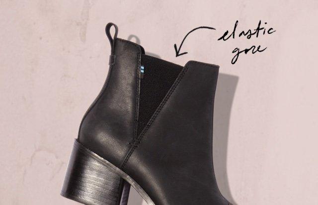 Black Leather Women's Esme Boots