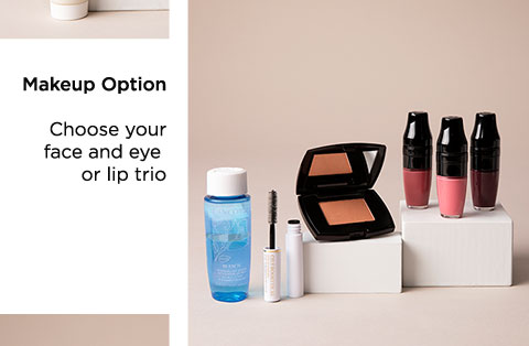 Makeup Option - Choose your face and eye or lip trio