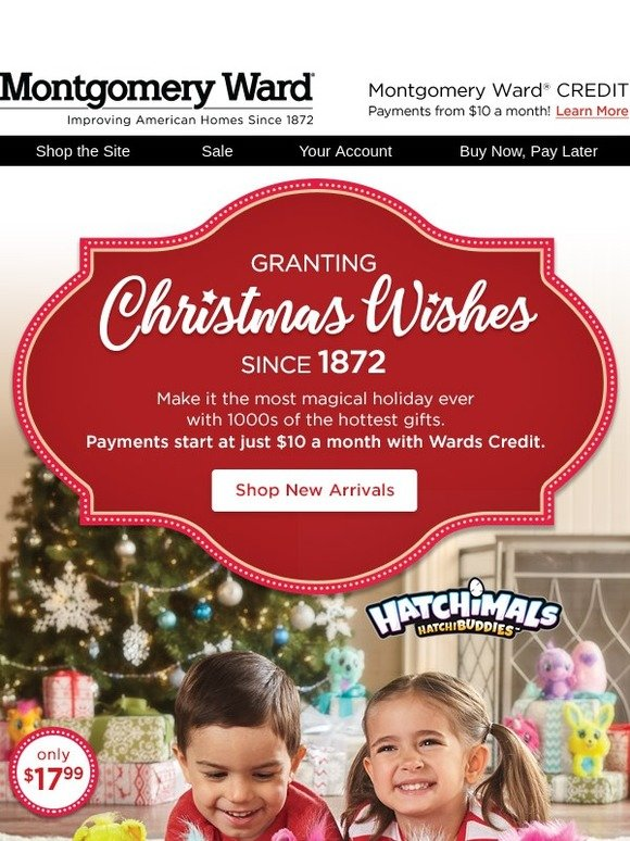 Montgomery Ward: What\'s New? 1000s of Gifts for the Holidays | Milled