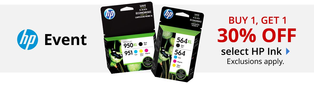 B1G1 30% off HP Ink