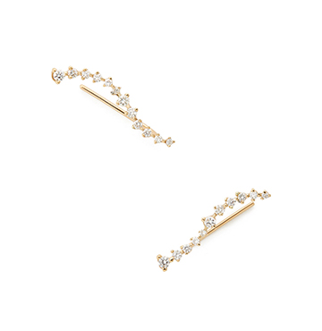 Sophie Ratner Diamond Swell Ear Climbers $980