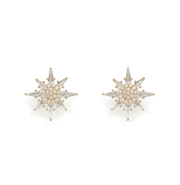 Bondeye Jewelry Calypso White Topaz Star Stud Earrings $2,495