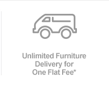 Unlimited Furniture Delivery for One Flat Fee