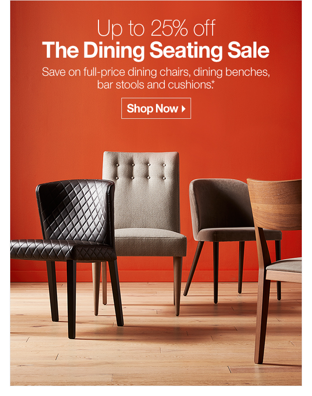 Up to 25% off The Dining Sale