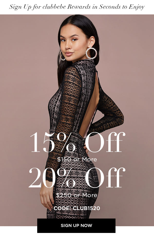Sign Up for clubbebe Rewards in Seconds to Enjoy 15% OFF $150 or More   20% OFF $250 or More   CODE: CLUB1520   SIGN UP NOW >