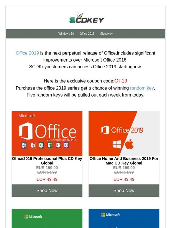 scdkey: Office 2019 is now available for Windows and Mac | Milled