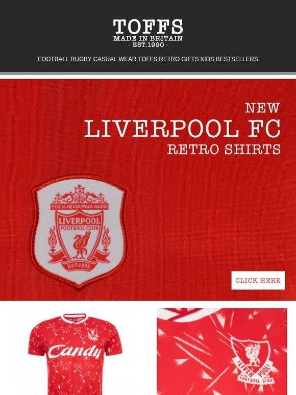 5c5ba3119 Toffs Ltd  NEW LIVERPOOL FC RETRO SHIRTS!