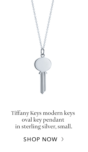 Shop Now: Sterling Silver Tiffany Keys Oval Key Pendant
