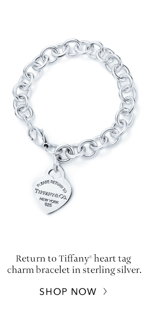 Shop Now: Sterling Silver Return to Tiffany Heart Tag Charm Bracelet