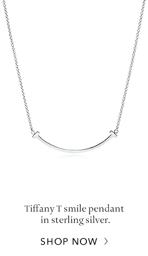 Shop Now: Sterling Silver Tiffany T Smile Pendant