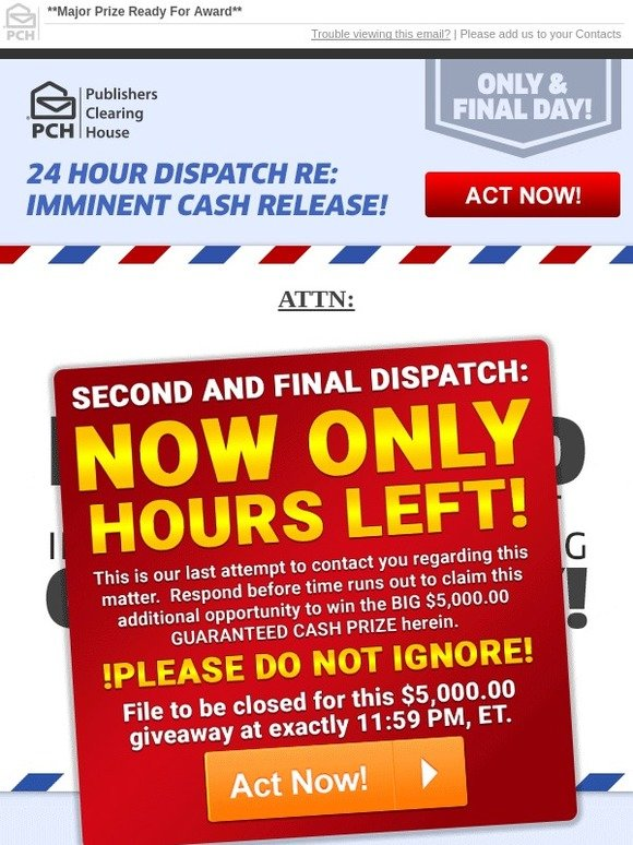 Contact Publishers Clearing House