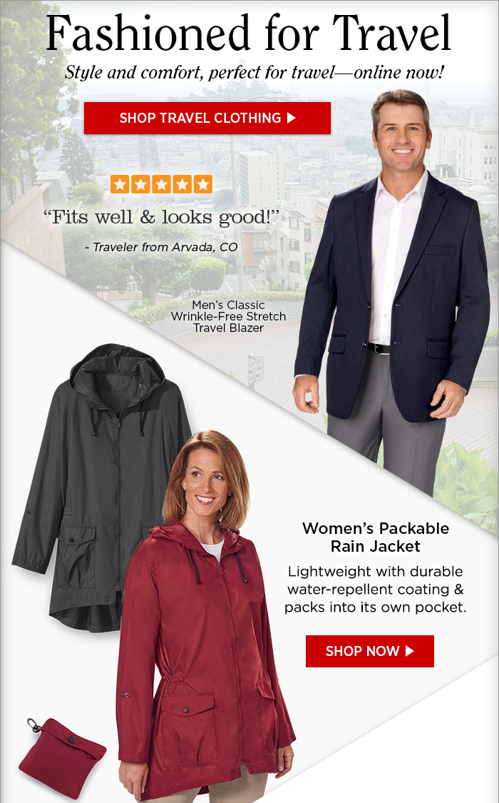 Magellans: Women's & Men's Clothing ~ Travel in Style | Milled