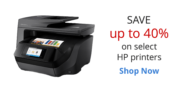 Touchdown with HP!  Save up to 40% off select HP inkjet printers Plus 10% back in rewards on all HP inkjet printers