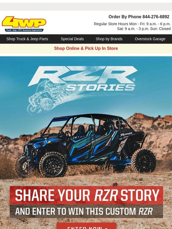 4 Wheel Parts: Share your RZR story to win a custom build