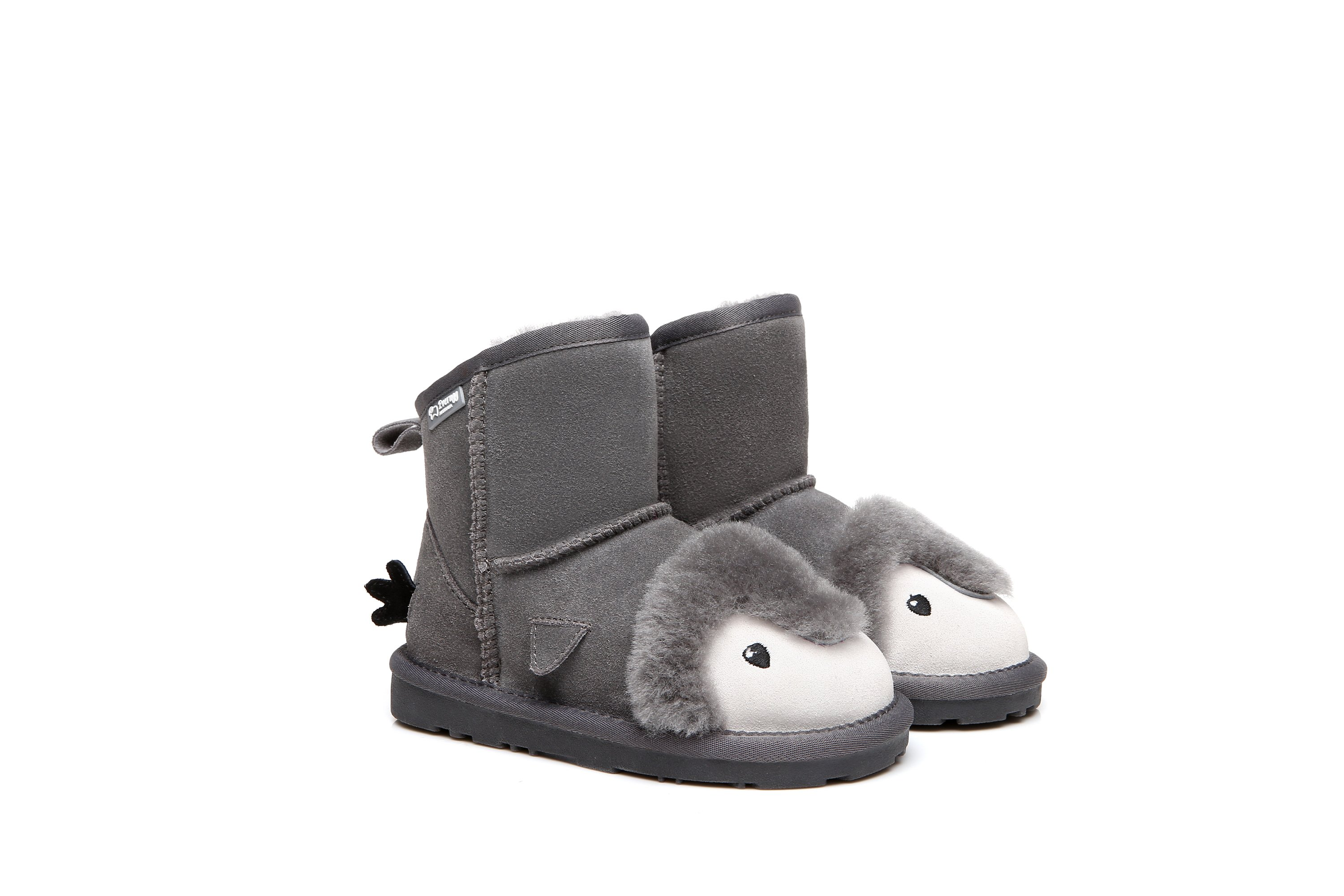91f2cd6c86e1 Image of UGG Kids Boots Penguin - Cowhide Upper Australian Sheepskin Lining  Water Resistant