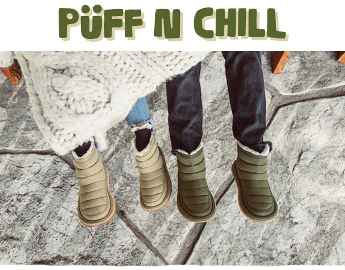 fe9207f7f59ef1 Sanuk  Say hello to the all-new Puff N Chill.