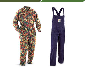 MILITARY OVERALL & COVERALLS