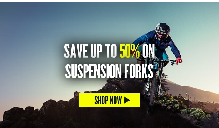 Save up to 50% on Suspension Forks