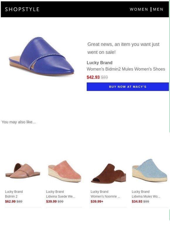 cc78e7816697 ShopStyle  Sale Alert  Lucky Brand