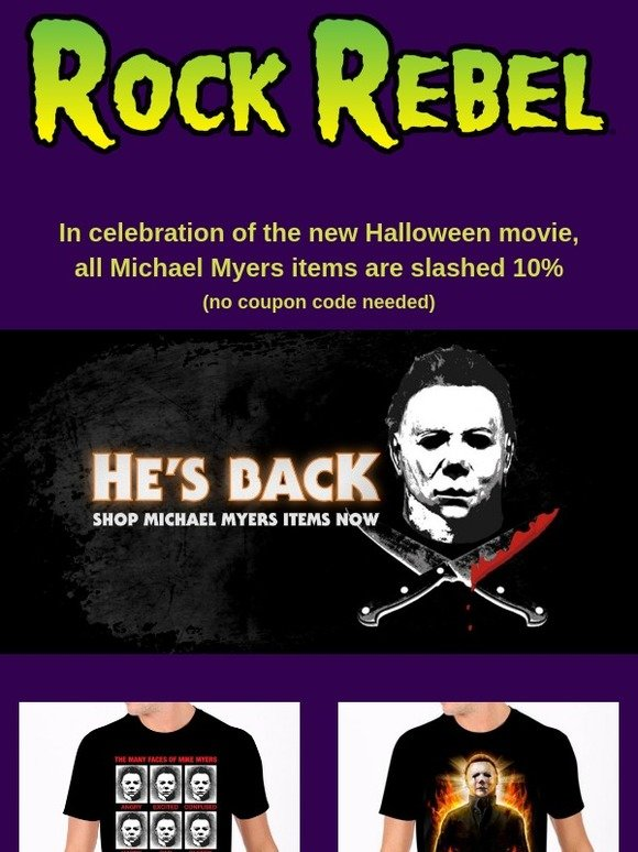 286e100f Rock Rebel: 🔪Michael Myers items slashed for a limited time 🔪   Milled