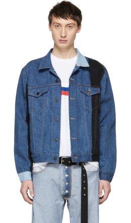 Gosha Rubchinskiy - Navy Levi's Edition Patchwork Jacket