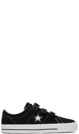 Converse - Black Suede One Star Pro Sneakers