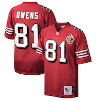 Mitchell & Ness Terrell Owens San Francisco 49ers Scarlet Throwback Authentic Retired Player Jersey
