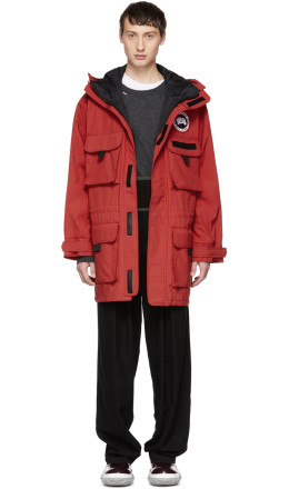 Junya Watanabe - Red Canada Goose Edition Hooded Coat