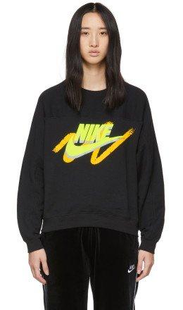 Nike - Black NSW Archive Crew Sweatshirt