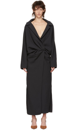 Jacquemus - Grey 'Le Manteau Vaal' Dress