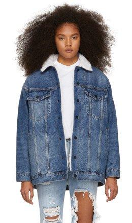 Alexander Wang - Blue Denim Rift Jacket