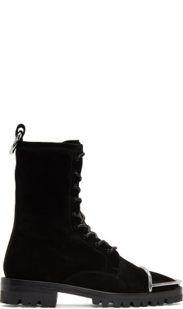 Alexander Wang - Black Suede Kennah Boots