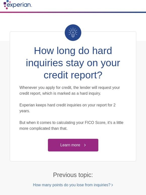How Long Do Hard Inquiries Stay On Your Credit >> Experian Hard Inquiries How Long They Affect Your Credit Milled