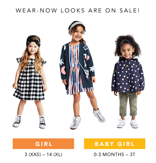 wear-now looks are on sale!