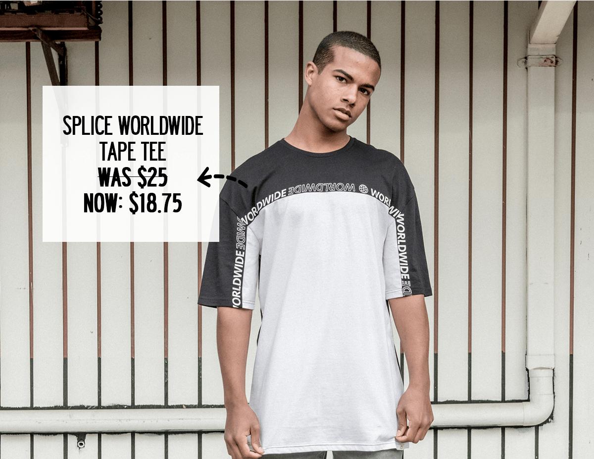 Splice Worldwide Tape Tee - was $25 now $18.75