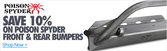 10% Off On Poison Spyder Front & Rear Bumpers
