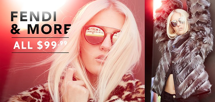 Designer Sunglasses With FENDI