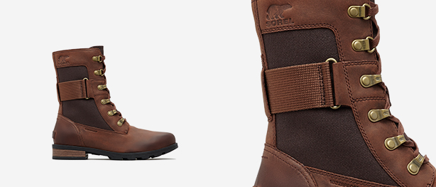 Left: Burro Emelie Conquest boot, Right: Close-up shot